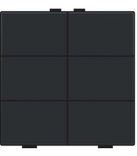 Zesvoudige lichtbediening, Black coated - 161-51006 - Niko Home Control