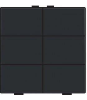 Zesvoudige lichtbediening, Bakelite-Look Piano Black coated - 200-51006 - Niko Home Control