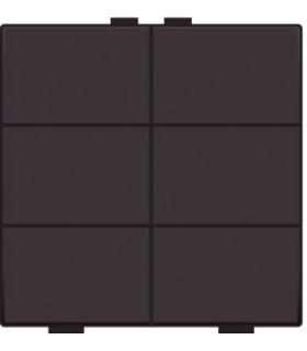 Zesvoudige lichtbediening, Bakelite-Look Chocolate coated - 201-51006 - Niko Home Control