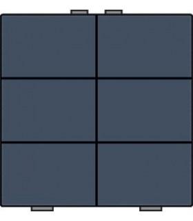 Zesvoudige lichtbediening, Alu-Look Steel Grey - 220-51006 - Niko Home Control