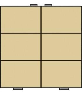 Zesvoudige lichtbediening, Alu-Look Gold - 221-51006 - Niko Home Control