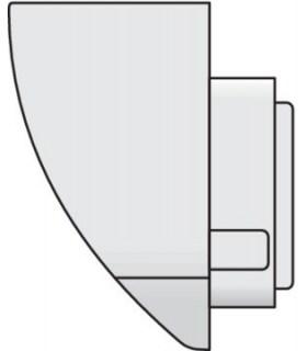Montagebeugel voor buitenbewegingsmelder - Wit - 390-20050