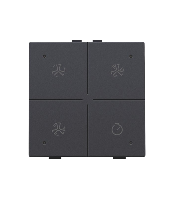 Ventilatiebediening met led, Anthracite- 122-52054 - Niko Home Control
