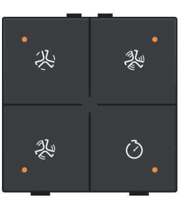 Ventilatiebediening met led, Anthracite- 122-52054 - Niko Home Control
