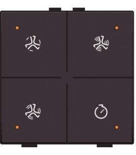 Ventilatiebediening met led, Dark Brown - 124-52054 - Niko Home Control
