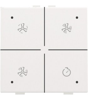 Ventilatiebediening met led, White Coated - 154-52054 - Niko Home Control