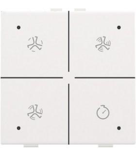 Ventilatiebediening met led, White Coated - 154-52054 - Niko Home Control