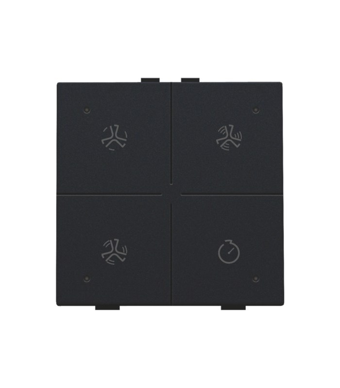Ventilatiebediening met led, Black Coated - 161-52054 - Niko Home Control