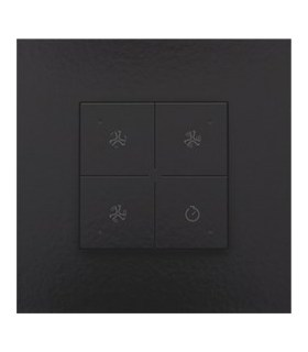 Ventilatiebediening met led, Piano Black Coated - 200-52054 - Niko Home Control
