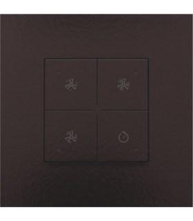 Ventilatiebediening met led, chocolate Coated - 201-52054 - Niko Home Control