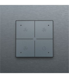 Ventilatiebediening met led, steel grey - 220-52054 - Niko Home Control