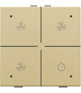 Ventilatiebediening met led, gold - 221-52054 - Niko Home Control