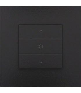 Enkelvoudige dimbediening, Bakelite-Look Piano Black Coated - 200-51043 - Niko Home Control