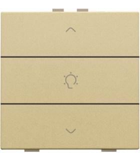 Enkelvoudige dimbediening, Alu-Look Gold - 221-51043 - Niko Home Control