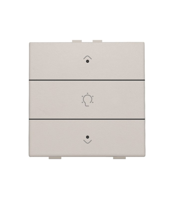 Enkelvoudige dimbediening met led, Light Grey - 102-52043 - Niko Home Control