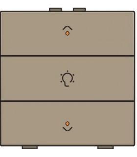 Enkelvoudige dimbediening met led, Bronze - 123-52043 - Niko Home Control
