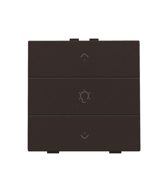 Enkelvoudige dimbediening met led, Dark Brown - 124-52043 - Niko Home Control