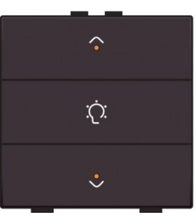 Enkelvoudige dimbediening met led, Dark Brown - 124-52043 - Niko Home Control