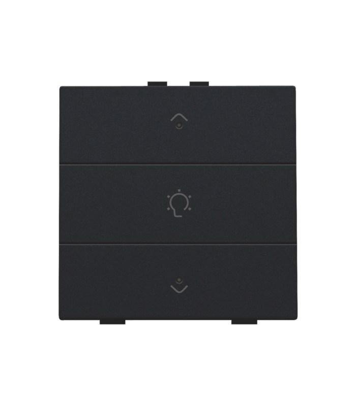 Enkelvoudige dimbediening met led, Black Coated - 161-52043 - Niko Home Control