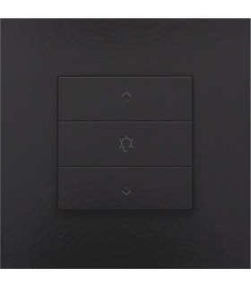 Enkelvoudige dimbediening met led, Bakelite-Look Piano Black Coated - 200-52043 - Niko Home Control