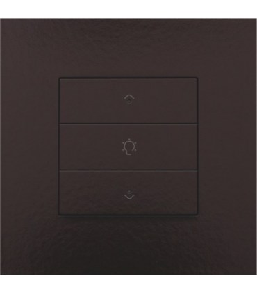 Enkelvoudige dimbediening met led, Bakelite-Look Chocolate Coated - 201-52043 - Niko Home Control