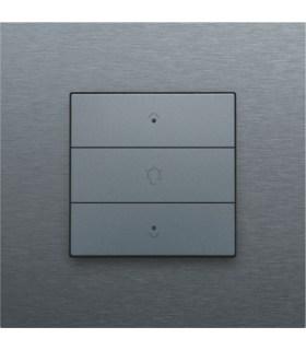Enkelvoudige dimbediening met led, Alu-Look Steel Grey - 220-52043 - Niko Home Control