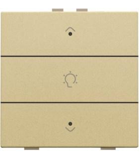 Enkelvoudige dimbediening met led, Alu-Look Gold - 221-52043 - Niko Home Control