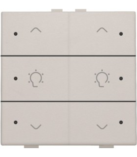Tweevoudige dimbediening met led, Light Grey - 102-52046 - Niko Home Control