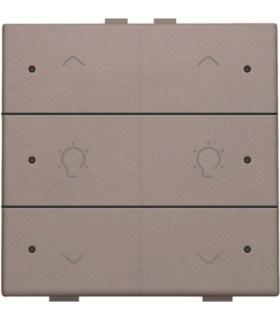 Tweevoudige dimbediening met led, Greige - 104-52046 - Niko Home Control