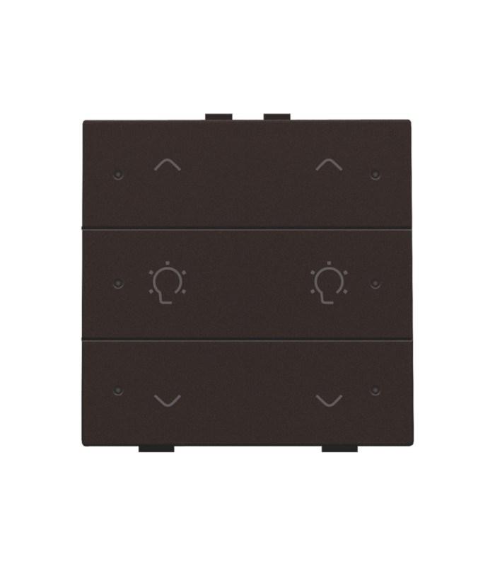 Tweevoudige dimbediening met led, Dark Brown - 124-52046 - Niko Home Control