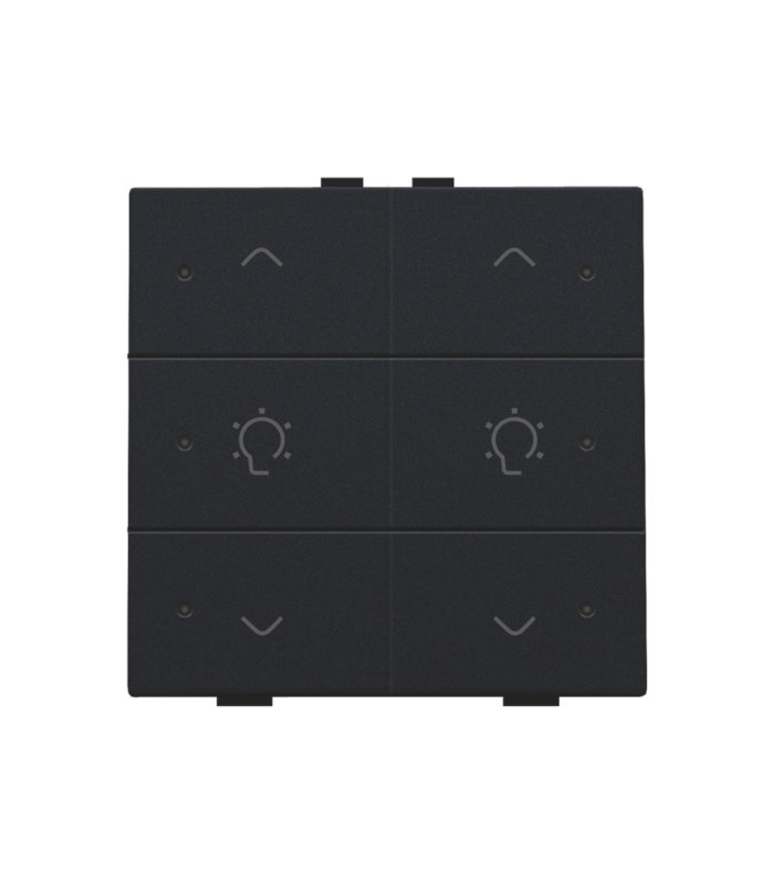 Tweevoudige dimbediening met led, Black Coated - 161-52046 - Niko Home Control
