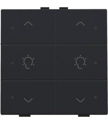 Tweevoudige dimbediening met led, Black Coated - 161-52046 - Niko Home Control