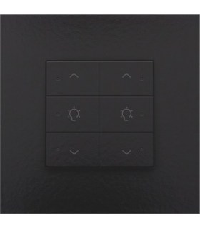 Tweevoudige dimbediening met led, Bakelite-Look Piano Black Coated - 200-52046 - Niko Home Control