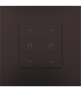 Tweevoudige dimbediening met led, Bakelite-Look Chocolate Coated - 201-52046 - Niko Home Control