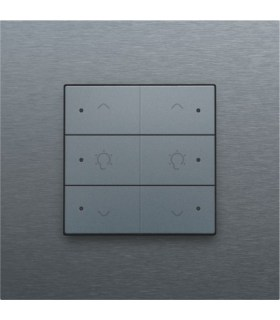 Tweevoudige dimbediening met led, Alu-Look Steel Grey - 220-52046 - Niko Home Control