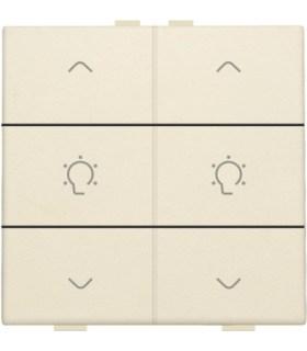 Tweevoudige dimbediening, Creme - 100-51046 - Niko Home Control