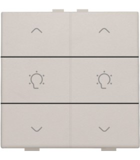 Tweevoudige dimbediening, Light Grey - 102-51046 - Niko Home Control