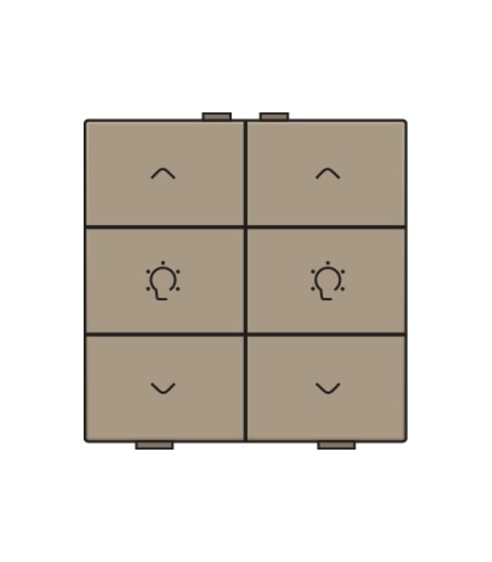 Tweevoudige dimbediening, Bronze - 123-51046 - Niko Home Control