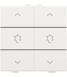 Tweevoudige dimbediening, White Coated - 154-51046 - Niko Home Control