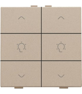 Tweevoudige dimbediening, Champagne Coated - 157-51046 - Niko Home Control