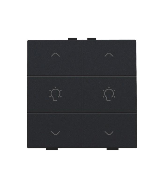 Tweevoudige dimbediening, Black Coated - 161-51046 - Niko Home Control