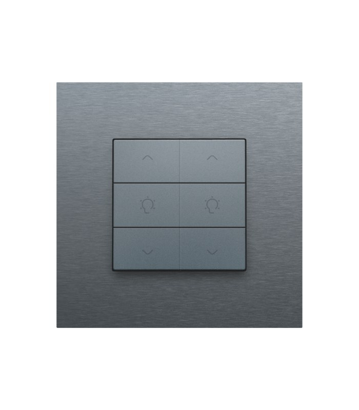 Tweevoudige dimbediening, Alu-Look Steel Grey - 220-51046 - Niko Home Control