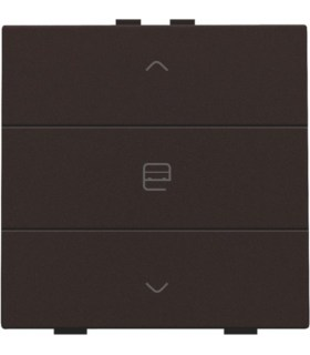 Enkelvoudige motorbediening, Dark Brown - 124-51033 - Niko Home Control