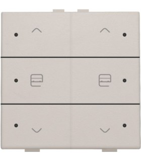 Tweevoudige motorbediening met led, light grey - 102-52036 - Niko Home control