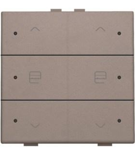 Tweevoudige motorbediening met led, greige - 104-52036 - Niko Home control