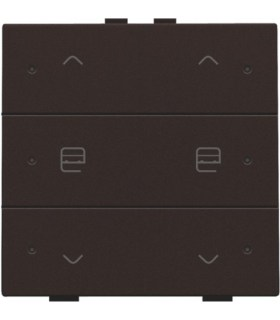 Tweevoudige motorbediening met led, Dark Brown - 124-52036 - Niko Home control