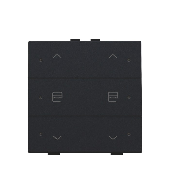 Tweevoudige motorbediening met led, Black Coated - 161-52036 - Niko Home control