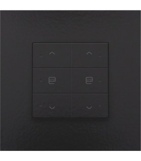 Tweevoudige motorbediening met led, Piano Black Coated - 200-52036 - Niko Home control