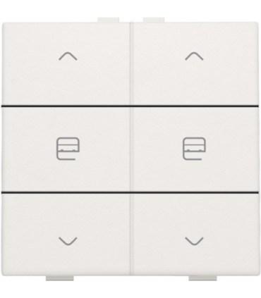 Tweevoudige motorbediening, wit - 101-51036 - Niko Home control
