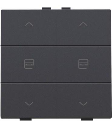 Tweevoudige motorbediening, anthracite - 122-51036 - Niko Home control